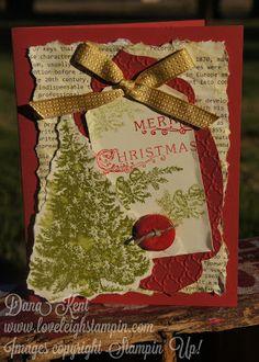 Stampin' Up! Christmas Greenery Card