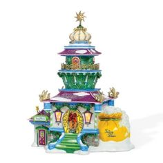 Department 56 - North Pole Series -Tinkerbells's Lighthouse - added to my collection Disney Christmas Village, Department 56 Christmas Village, Christmas Village Display, Mickey Christmas, Christmas Villages, Christmas Baby, Christmas Decorations, Christmas Train, Christmas Shopping