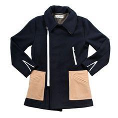 (91) Fab.com   Molten Wool Coat Navy Camel