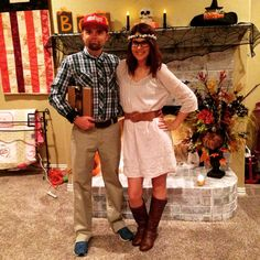 Forest Gump and Jenny Halloween costume
