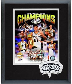 "San Antonio Spurs 2014 NBA Champions -11"" x 14"" Framed/Matted ""LE"" - 5000 Photo"