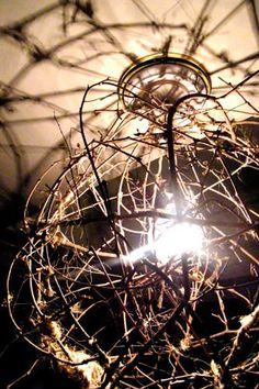 Tumbleweed Chandelier Instructions, skip the light but would work great for our old west yard decor
