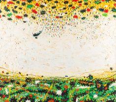 Gunter Damisch (Austrian, Weiszfeld-Obenunten, Huile sur toile, 180 x 160 cm. Contemporary, Painting, Art, Oil On Canvas, Art Background, Painting Art, Kunst, Paintings, Performing Arts