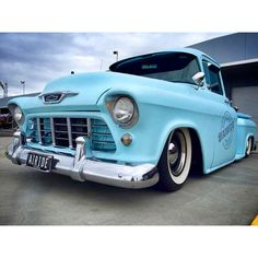 """Super dope powder blue 55 Chevy that Air Ride Suspension Supply just got back on the road! @air_ride_suspension_supplies #kingsofkustom #cardaily #hotrod…"""