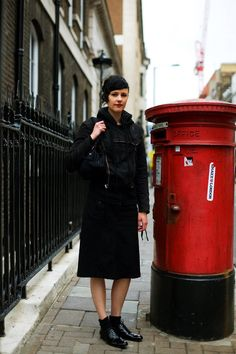 On the Street…..In Black & Red, London « The Sartorialist