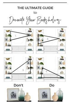 Step by step guide you can follow to create beautifully decorated  bookshelves. Everything you need to know and a bonus shopping guide!  Schedule