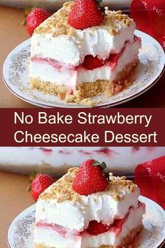 No Bake Strawberry Cheesecake Dessert » Jodeze Home and Garden