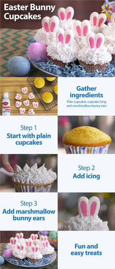 Here's a fun Easter treat dessert – Easter Bunny Cupcakes. This Helpful Hack is so simple to put together. All you have to do is bake some cupcakes, add some icing and then put these cute marshmallow bunny ears on top. The Easter Bunny himself would approve of these. Get everything you need to make these playful Easter Bunny Cupcakes at Walmart.
