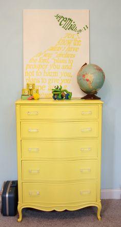 tall dresser + globe