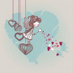 cartoon valentine illustration    vector