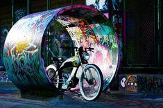 Electric Chopper Bike, Clouds