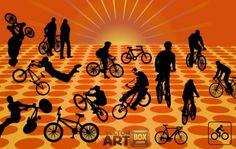 linda bicicletas vector