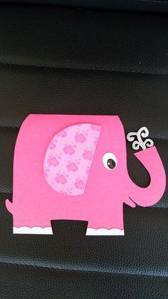 Lyserød elefant, baby, pige