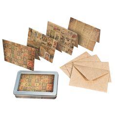 Tim Holtz - District Market Collection - Idea-ology - Notecard Set - Merriment at Scrapbook.com