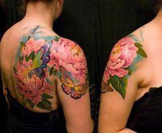 Flower tattoo. Very pretty.