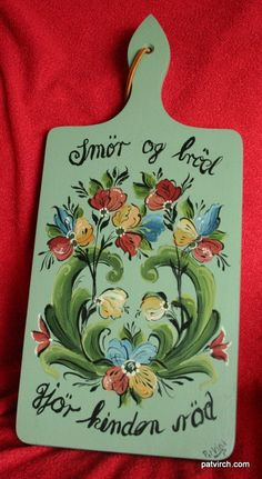Norwegian Rosemaling  Bread Board  Hand Painted Light by PatVirch, $25.00