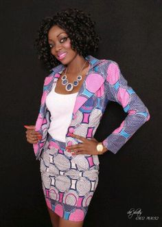 African Fabric, Ankara, African-inspired jacket  #Ankara, #Jacket