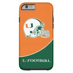University of Miami Football Tough iPhone 6 Case - click/tap to personalize and buy