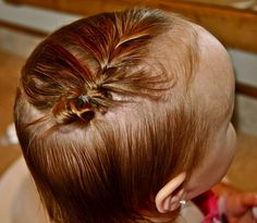 15 Ways To Style Baby/Toddler Girl Hair. - never thought about doing this