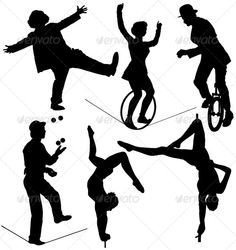 Circus Artist Silhouette #GraphicRiver Circus Artist Silhouette on…