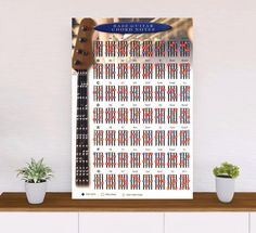 Bass Guitar Chord Notes Poster - 40x27inch