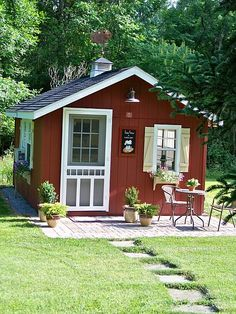 This is where I dream. This is where I create. This is where I imagine.  http://www.woodtex.com/storage-sheds.asp