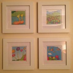 Seuss book and four frames = DIY kids room art. Baby Room Art, Kids Room Art, Baby Room Decor, Nursery Art, Kids Rooms, Nursery Ideas, Room Ideas, Dr Seuss Art, Dr Suess
