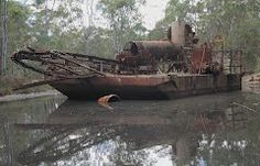 Porcupine Flat Gold Dredge. Newstead VIC 3462 - Google Maps Cool Rocks, Back In Time, Military Vehicles, Trains, Maps, Restoration, Flat, History, Places