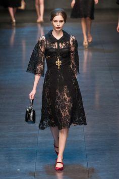 Fashion Show: Dolce & Gabbana Fall/Winter 2013/14 | Черное & Белое