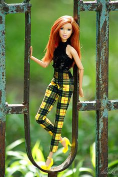 2018 BARBIE CURVY DOLL CLOTHES FASHIONISTAS PLAID SLIP DRESS ONLY