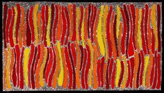 Aboriginal Artwork by Sally Clark. Sold through Coolabah Art on eBay. Cataogue ID 14287