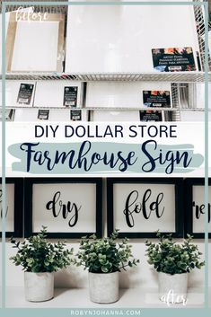 Interested in creating a farmhouse sign, but don't have any power tools? This simple and inexpensive DIY on how to make a farmhouse sign using Dollar Store artist panels will blow your mind. # DIY Home Decor dollar store Dollar Tree Decor, Dollar Tree Crafts, Dollar Tree Mirrors, Dollar Tree Haul, Dollar Tree Finds, Dollar Tree Store, Diy Home Decor Rustic, Cheap Home Decor, Home Decor Store