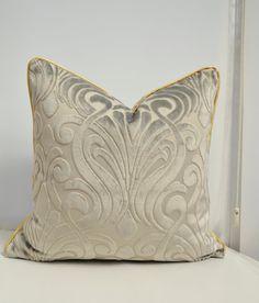 Grey Velvet Pillow CoverGrey Pillow Cover Designer by LaletDesign