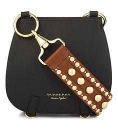 324bc4df33cc BURBERRY Studded strap leather shoulder bag