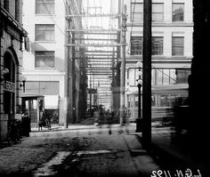 Alley west of Main at Hastings, Source: BCER photo (cropped), via City of Vancouver Archives 1192 The Good Old Days, Back In The Day, West Coast, Vancouver, Maine, The Past, History, World, City