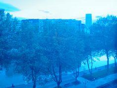 View. Room in Hesperia Hotel. Blue Balcony.