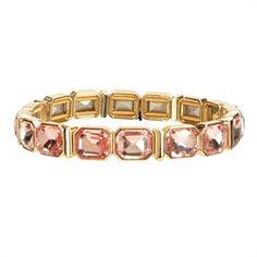 Anne Klein Faceted Jewel Stretch Bracelet #VonMaur #AnneKlein #Rose #Jewels #StyleCorner