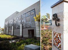 RSM Design Environmental Experiential Architectural Graphic Design Santa Ana College Specialty Art Panel Monument Tile