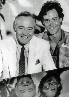 Jack and Chris Lemmon. Loved the father, think the son is so handsome and talented; actor and pianist.