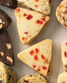 White Chocolate, Hazelnut, And Cherry Triangles Recipe — Dishmaps