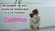 Cute Merry Christmas 2019 Messages Wishes for Daughter from Parents - Happy New Year 2020 Best Merry Christmas Wishes, Christmas Wishes Messages, Merry Christmas Quotes, Wishes For Daughter, Sweet Messages, Happy New Year 2020, Joy And Happiness, Daughters, Dramas