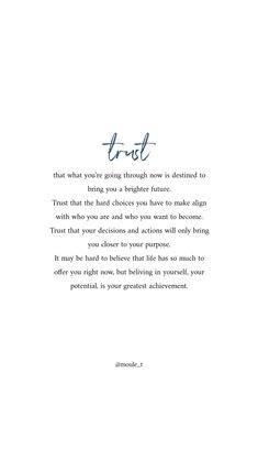 Trust that your journey is leading you to a brighter future – Motivational Quotes Ispirational Quotes, True Quotes, Words Quotes, Wise Words, New Job Quotes, Decision Quotes, Peace Quotes, Sayings, Self Healing Quotes