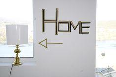 House Decorating with Washi Tape / Decora tu casa washi tape sign