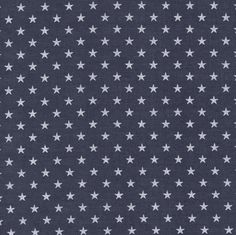 "Stormy with white stars - Cotton cambric - 1 meter (39"")"