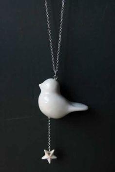 Porcelain Bird Necklace