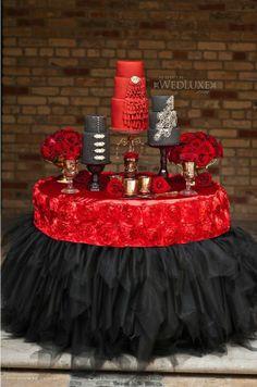 Red and Gray Wedding Theme | Source: http://thecaketressblog.com/2012/03/hacienda-sarria-spanish ...