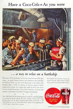 2  WWII  Coca-Cola Ads  National Geographic  by Museofmemorabilia