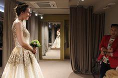 De pruebas en L'ATELIER TUDELA. Ya se nos casó la preciosa @Regina en #SanSebastian. En @L_ATELIER_TUDEL disfrutamos vistiéndola a ella y a su familia