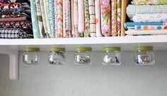Idée de récup : recyclage pots en verre