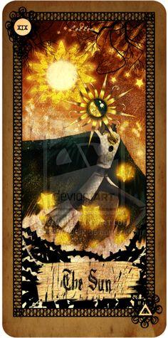 Tarot card - The Sun by CottonValent.deviantart.com on @deviantART